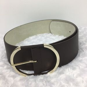 White House Black Market Brown Leather Belt